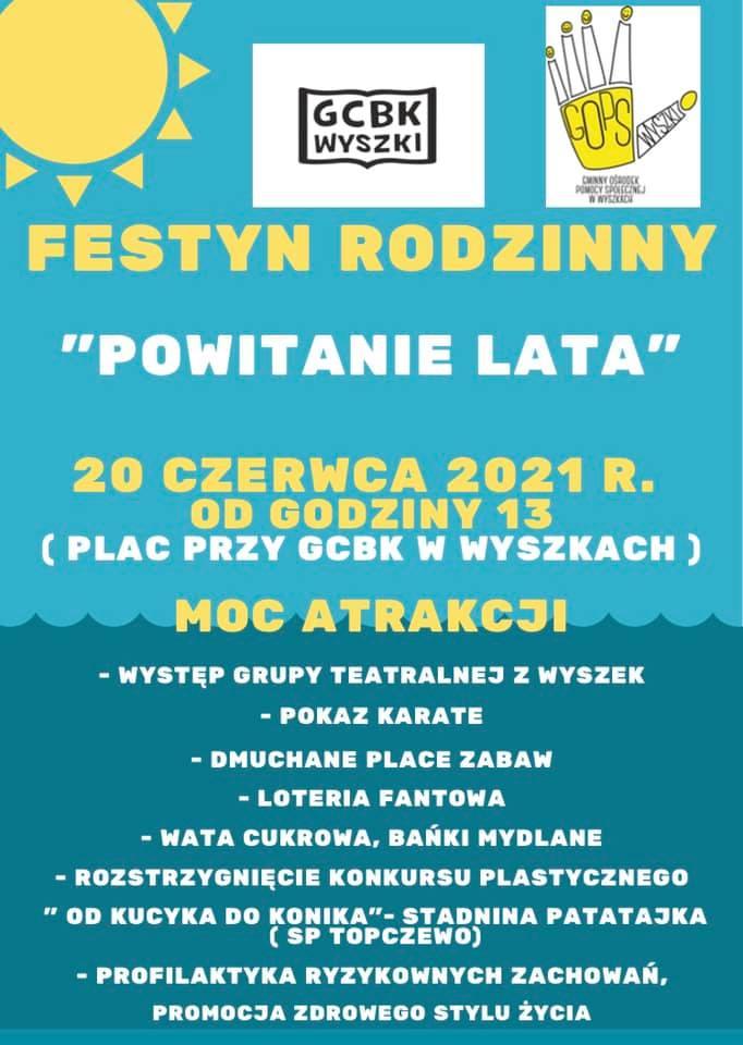 Plakat Festyn Rodzinny